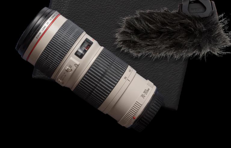 camera lense and mic