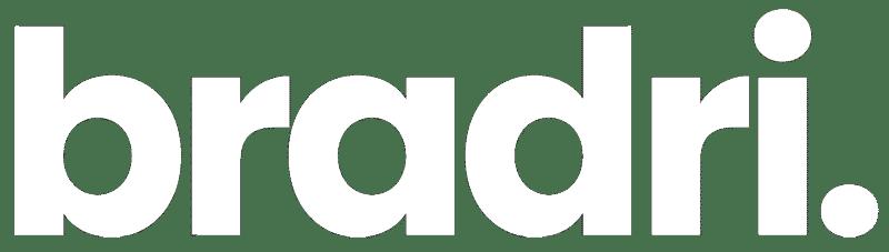 bradri logo white