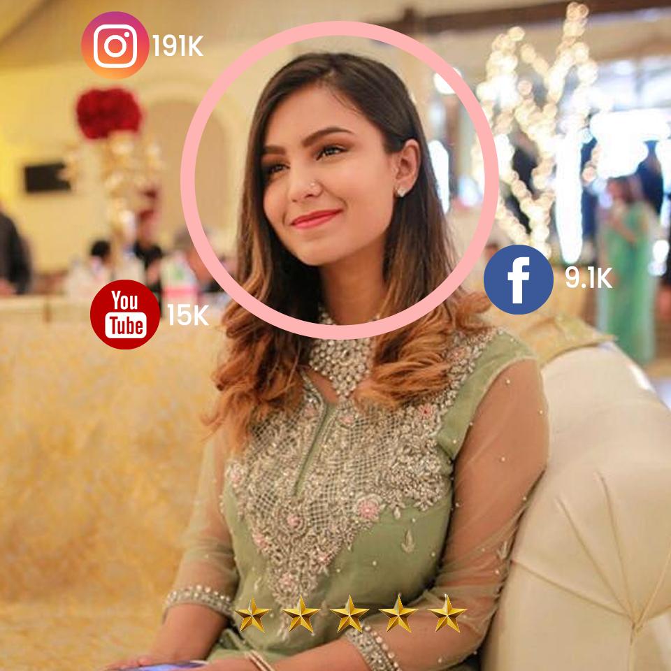 Pakistani Influencer Hamna Raza