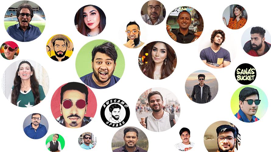 Top Pakistani Youtubers with most subscribers 2019 | Bradri