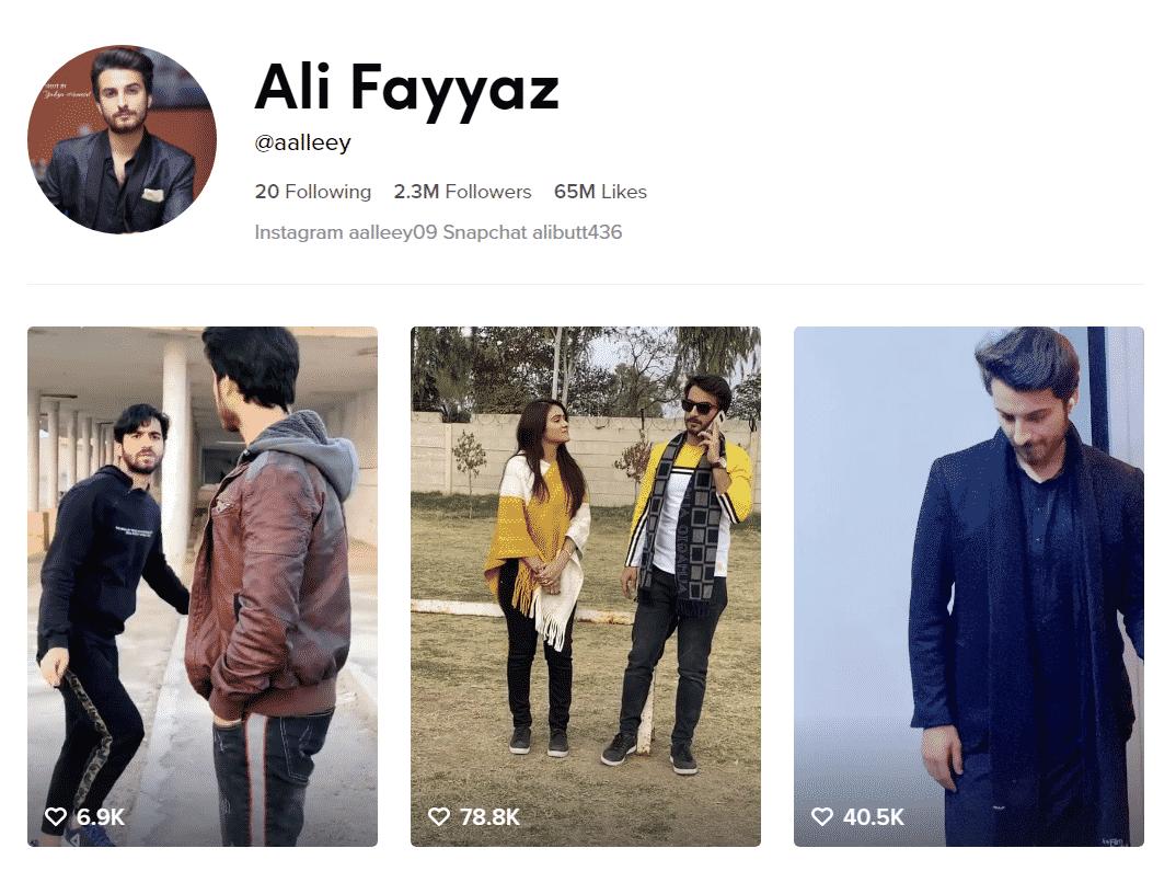 Ali Fayyaz Official TikTok Profille