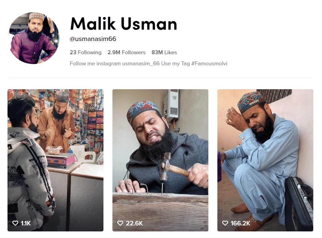Malik Usman Famous Molvi Official TikTok Profille