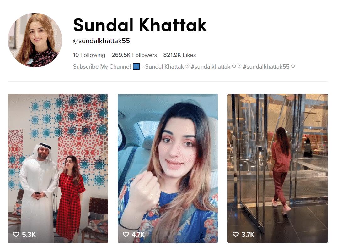 Sundal Khattak Official TikTok Profille
