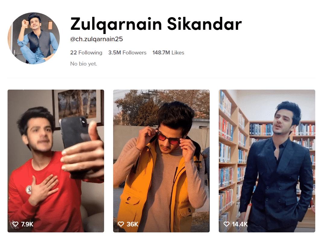 Zulqarnain Sikandar Official TikTok Profille